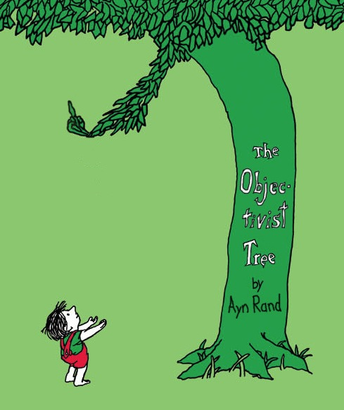 Objectivist Tree, cartoon about Ayn Rand