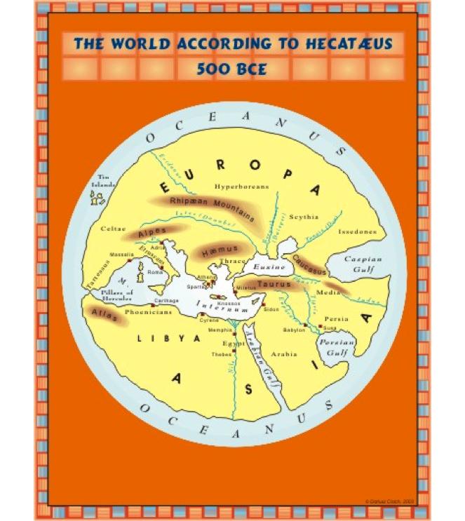 Hecataeus map